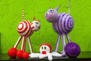 Imagen de gatos y pulpo de artesanía